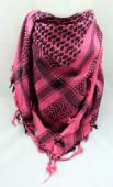 Pink and Black Arab Shemagh Fashion Scarf